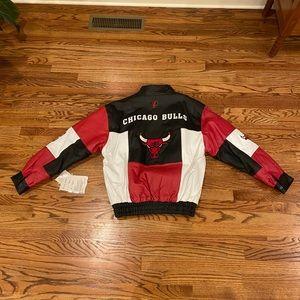 NWT Vintage NBA bulls leather jacket